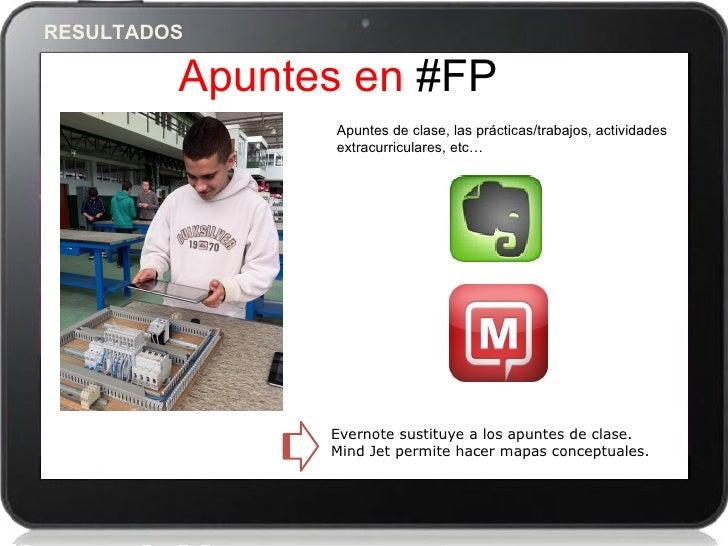 RESULTADOS         Apuntes en #FP                 Apuntes de clase, las prácticas/trabajos, actividades                 ex...