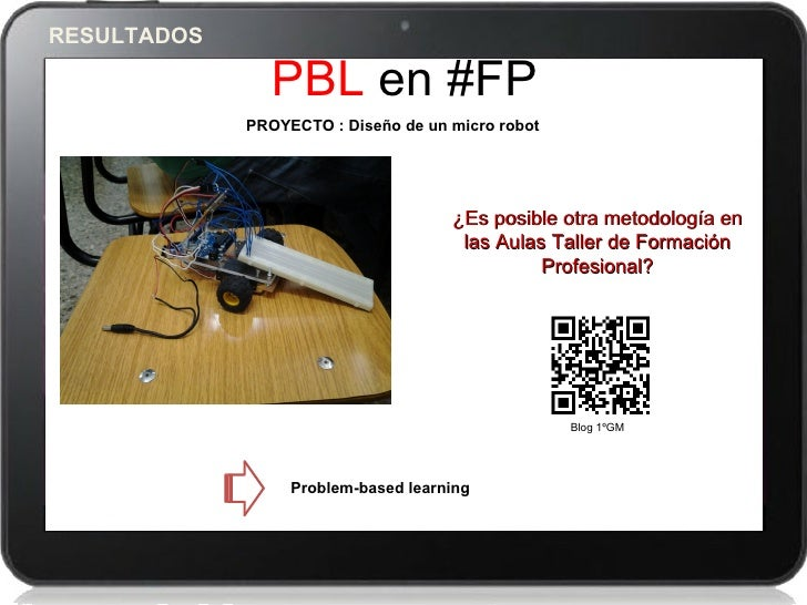 RESULTADOS               PBL en #FP             PROYECTO : Diseño de un micro robot                                     ¿E...