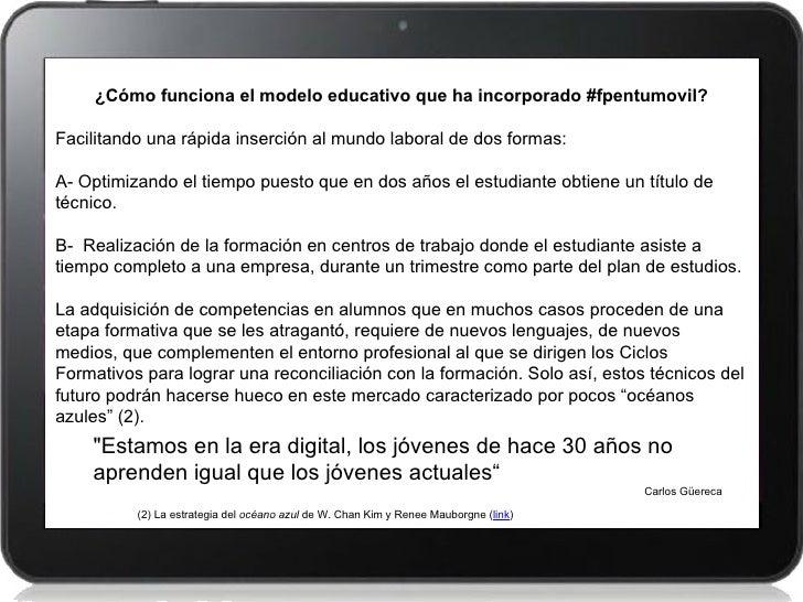 ¿Cómo funciona el modelo educativo que ha incorporado #fpentumovil?Facilitando una rápida inserción al mundo laboral de do...