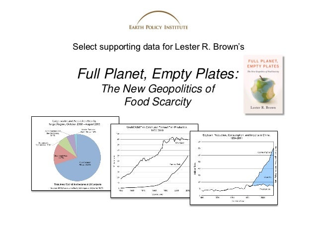 Select supporting data for Lester R. Brown's Full Planet, Empty Plates:       The New Geopolitics of           Food Scarcity