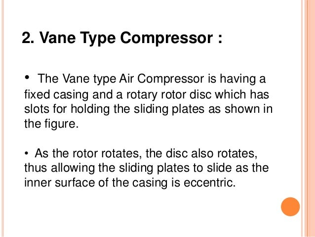 Types of Rotary Compressors FPE