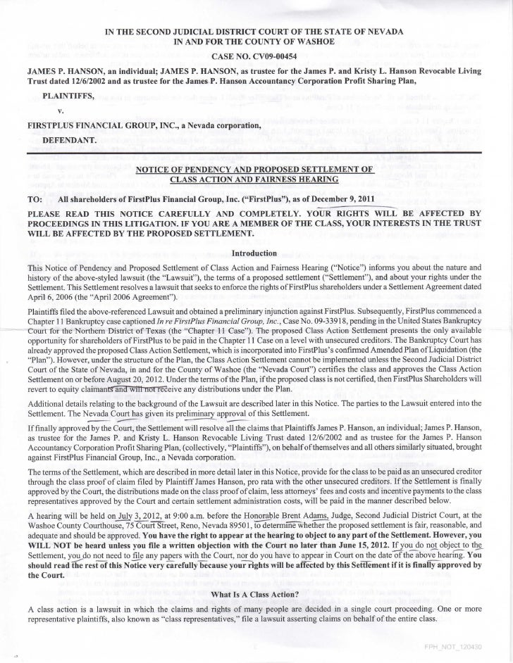 FPFG_class action_Reno_proposed settlement