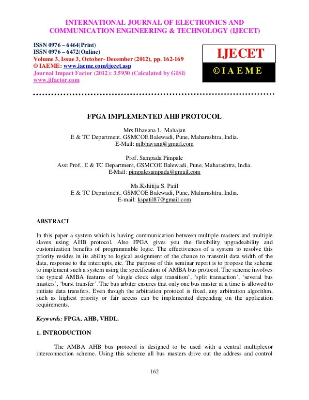 International INTERNATIONALCommunication Engineering & Technology (IJECET), ISSN 0976 –               Journal of Electroni...