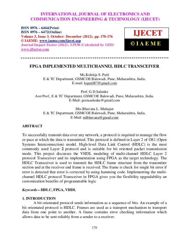 International INTERNATIONAL JOURNAL OF ELECTRONICS AND ISSN 0976 –              Journal of Electronics and Communication E...
