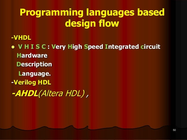 Introduction to FPGA, VHDL