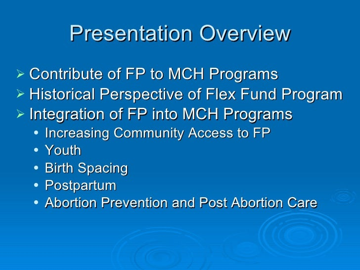 Integrating Family Planning Into CSHGP and MCH Programs Slide 2