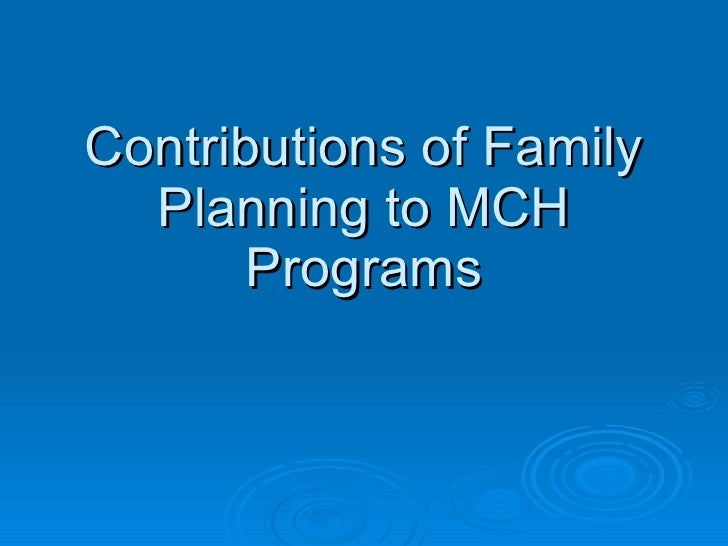 Integrating Family Planning Into CSHGP and MCH Programs Slide 3