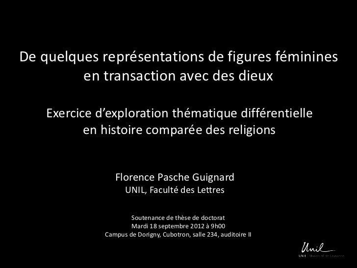 De quelques représentations de figures féminines         en transaction avec des dieux    Exercice d'exploration thématiqu...
