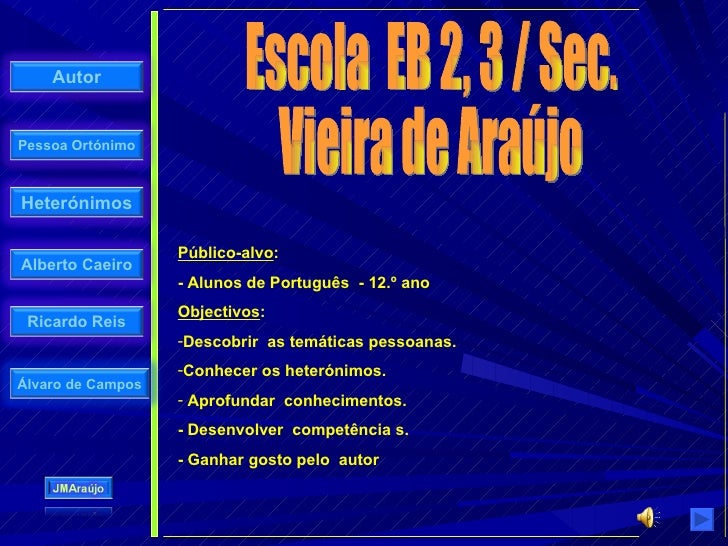 <ul><li>Público-alvo : </li></ul><ul><li>- Alunos de Português  - 12.º ano  </li></ul><ul><li>Objectivos : </li></ul><ul><...