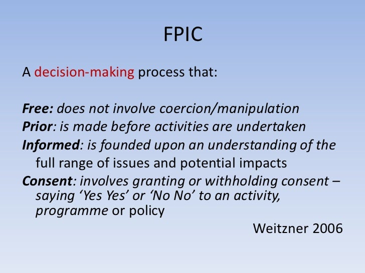 Free And Prior Informed Consent Fpic In Carbon Projects