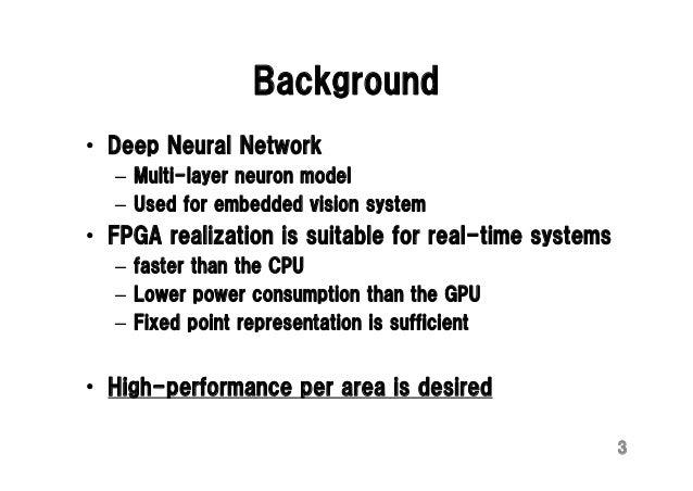 FPL15 talk: Deep Convolutional Neural Network on FPGA Slide 3
