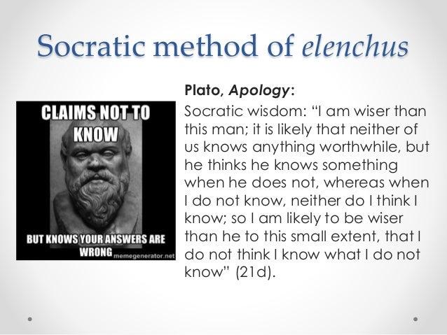 Socratic method in the apology