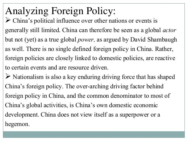 chinese and american foreign policy essay Sponsored by the american foreign  2018 essay topic and guidelines the united states has many tools to advance and defend its foreign policy and national.