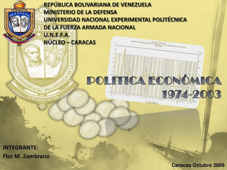 REPÚBLICA BOLIVARIANA DE VENEZUELA              MINISTERIO DE LA DEFENSA              UNIVERSIDAD NACIONAL EXPERIMENTAL PO...