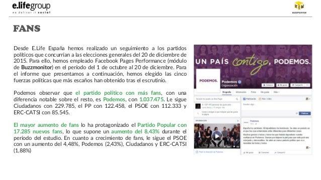 Presencia en Facebook de partido políticos en España  Slide 3