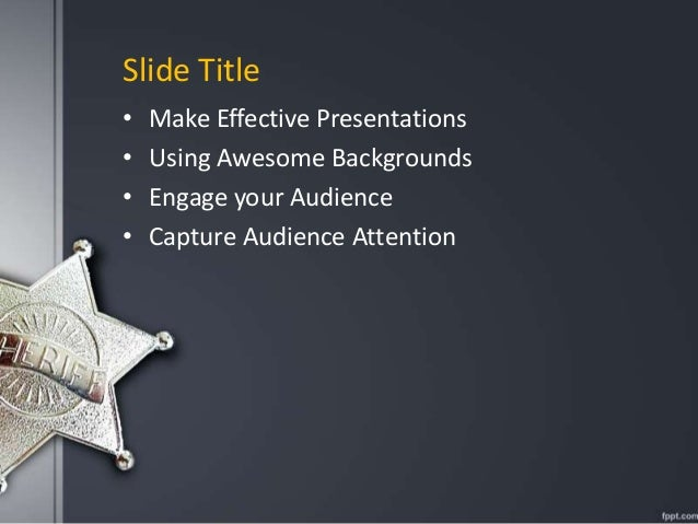 Fppt free powerpoint presentation template sheriff powerpoint backgr fppt free powerpoint presentation template sheriff powerpoint background for law enforcement related presentations toneelgroepblik Images