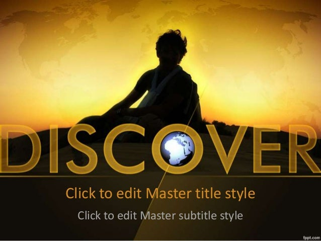 Fppt free powerpoint templates discovery powerpoint background and t click to edit master title style click to edit master subtitle style toneelgroepblik Choice Image