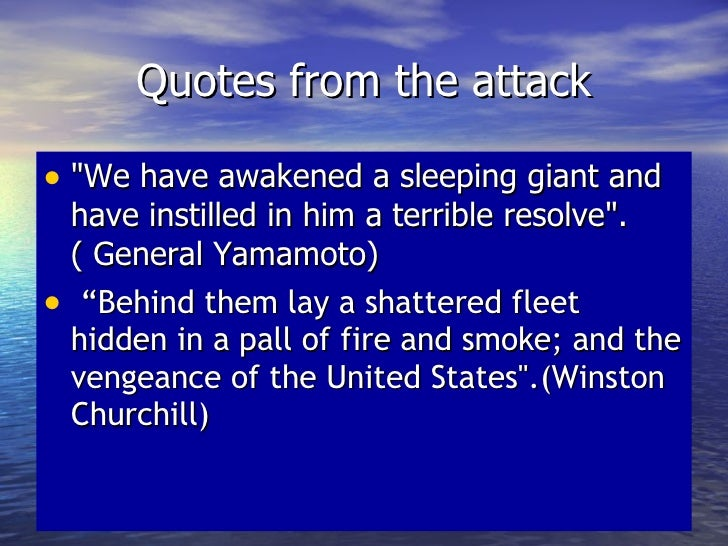 how had attack on pearl harbor After the sudden and deliberate attack on pearl harbor by the japanese during world war ii, president roosevelt spoke to congress and the american people.