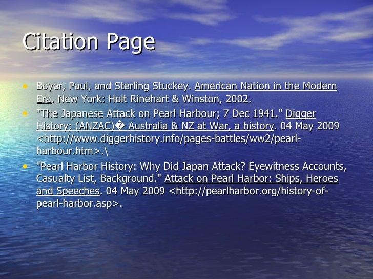 Pearl harbor faith and reasons essay