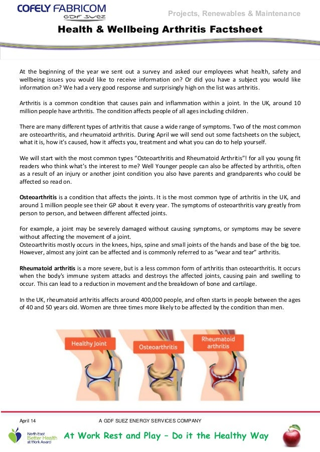 Fprm   arthritis factsheet
