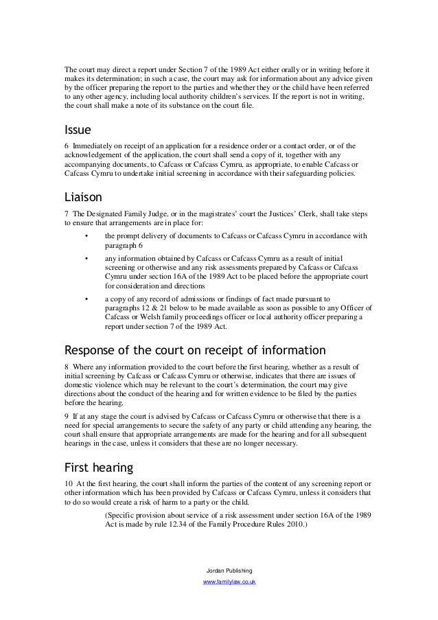 section 7 report