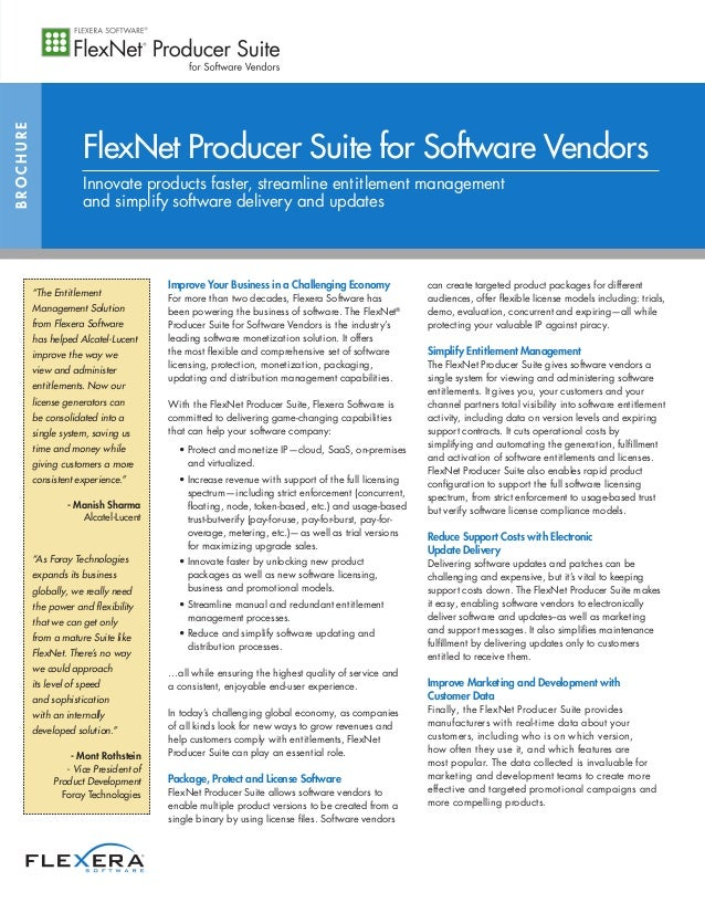 Improve Your Business in a Challenging Economy For more than two decades, Flexera Software has been powering the business ...
