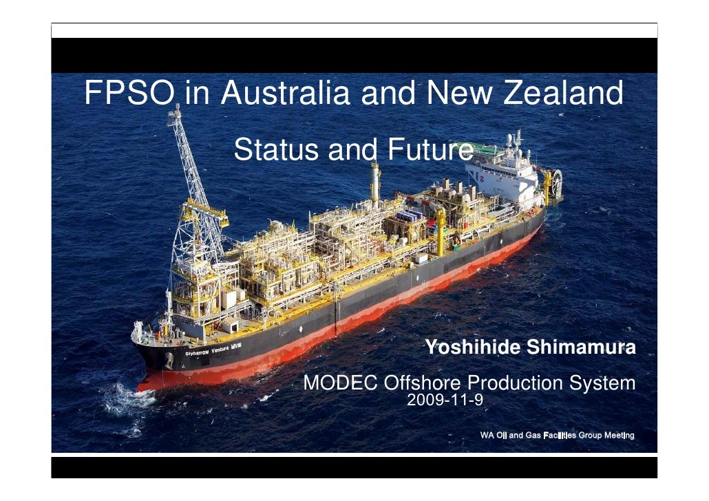 FPSO In Australia And New Zealand By Yoshihide Shimamura