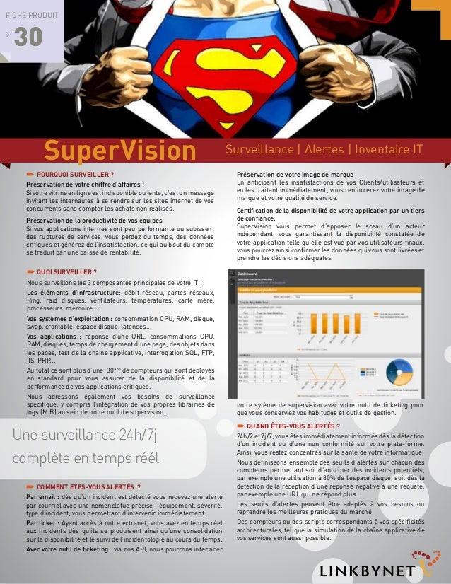 Fiche produit  >  30  SuperVision ´ POURQUOI surveillER ? Préservation de votre chiffre d'affaires ! Si votre vitrine en l...