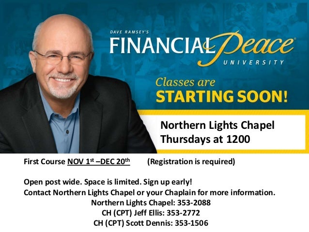 Northern Lights Chapel                                     Thursdays at 1200First Course NOV 1st –DEC 20th   (Registration...