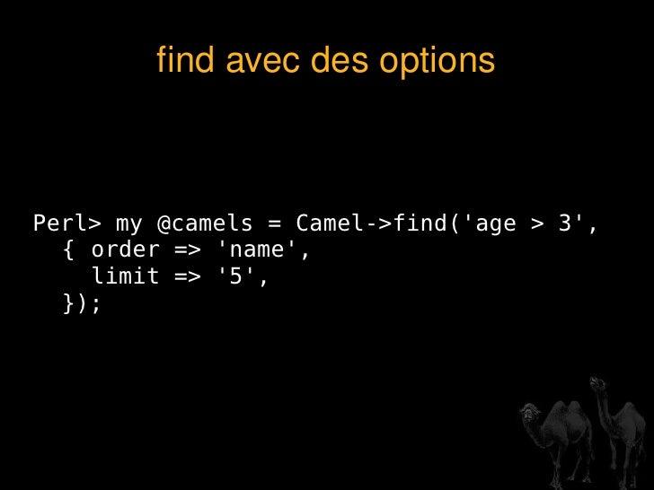 Les ORM en Perl <ul><li>Class::DBI