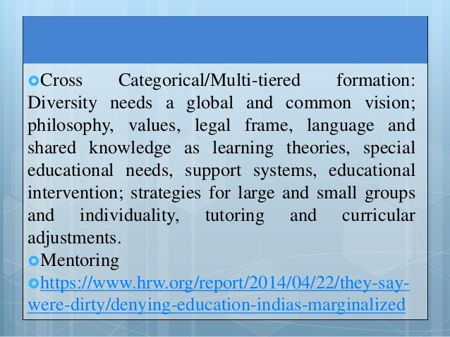 a research on teachers and tutors perception on the different components of intervention Facilitating effective student  innovative instructional intervention  innovation in the teaching/learning process and teachers' research work in different .