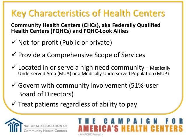 FQHC 101 What is a Community Health Center? Slide 2