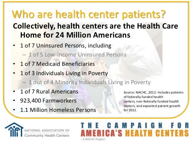 FQHC 101 What is a Community Health Center? Slide 3