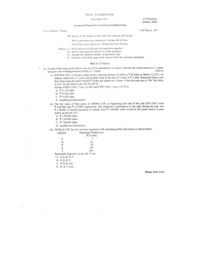 Question Paper 2012 - FR