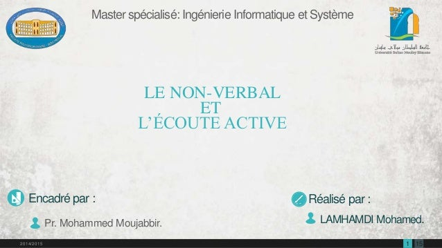 1512014/2015 Master spécialisé: Ingénierie Informatique et Système LAMHAMDI Mohamed. Réalisé par :Encadré par : Pr. Mohamm...