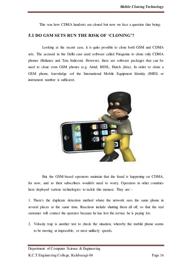 Mobile Cloning Technology Report