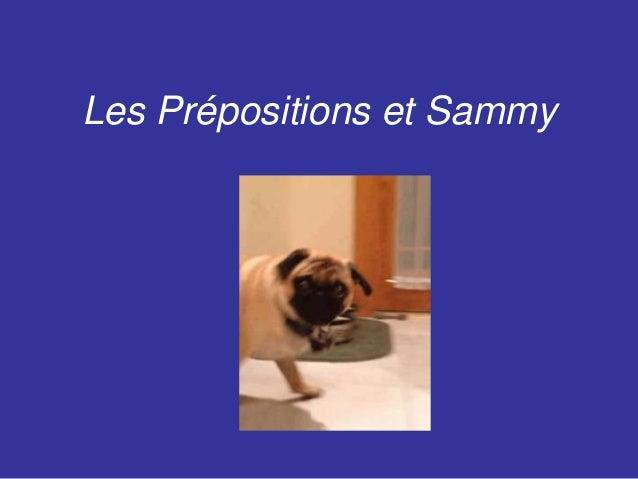 Les Prépositions et Sammy
