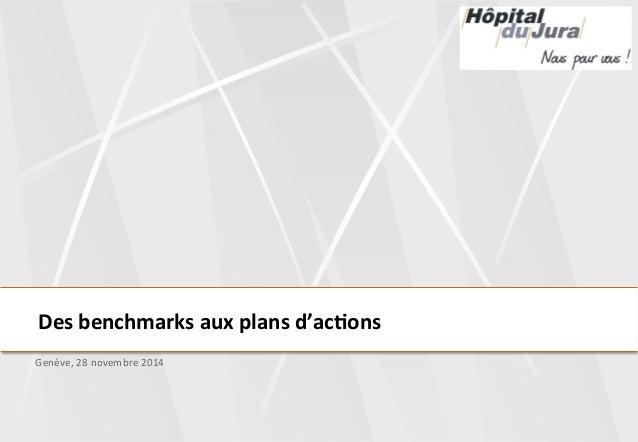 Des  benchmarks  aux  plans  d'ac3ons  Genève,  28  novembre  2014