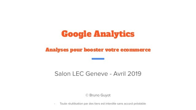 Google Analytics Analyses pour booster votre ecommerce