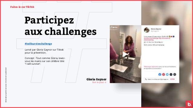 Participez aux challenges #Iwillsurvivechallenge Lancé par Gloria Gaynor sur Tiktok pour la prévention. Concept : Tout com...