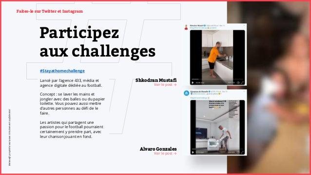 Participez aux challenges #Stayathomechallenge Lancé par l'agence 433, média et agence digitale dédiée au football. Concep...
