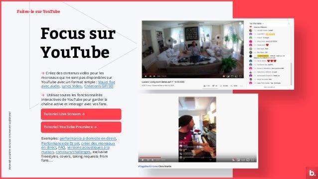 Focus sur YouTube → Créez des contenus vidéo pour les morceaux qui ne sont pas disponibles sur YouTube avec un format simp...