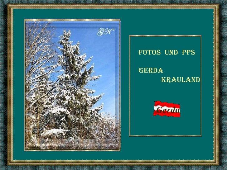 Fotos  und  pps Gerda krauland
