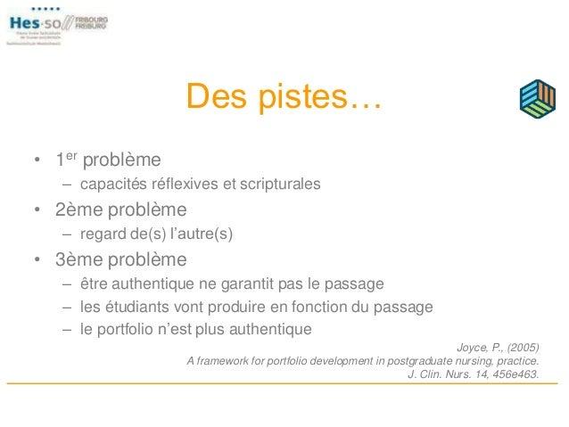 Des pistes… • 1er problème – capacités réflexives et scripturales • 2ème problème – regard de(s) l'autre(s) • 3ème problèm...