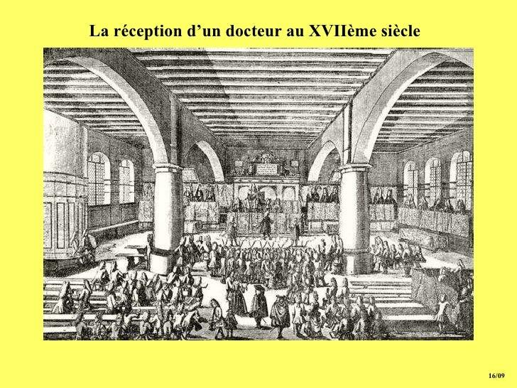 15/09 La réception d'un docteur  au XVIIème siècle