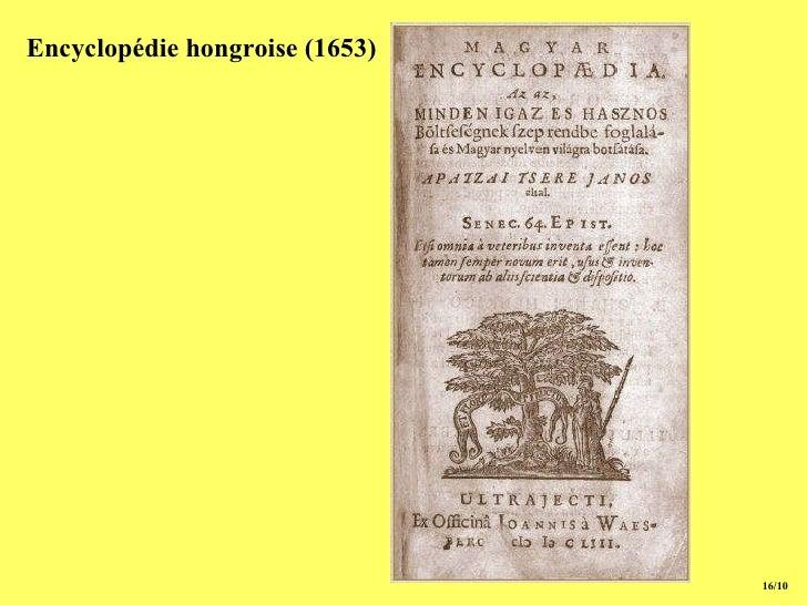 15/10 Encyclopédie hongroise (1653)