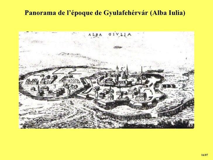 15/07 Panorama de l'époque de Gyulafehérvár (Alba Iulia)