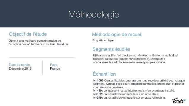 Méthodologie Objectif de l'étude Méthodologie de recueil Segments étudiés Échantillon Date du terrain Obtenir une meilleur...