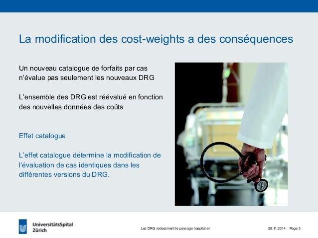 Changement de la normalisation des cost-weights en 2012- Jörk Volbracht (Universitätsspital Zürich) Slide 3
