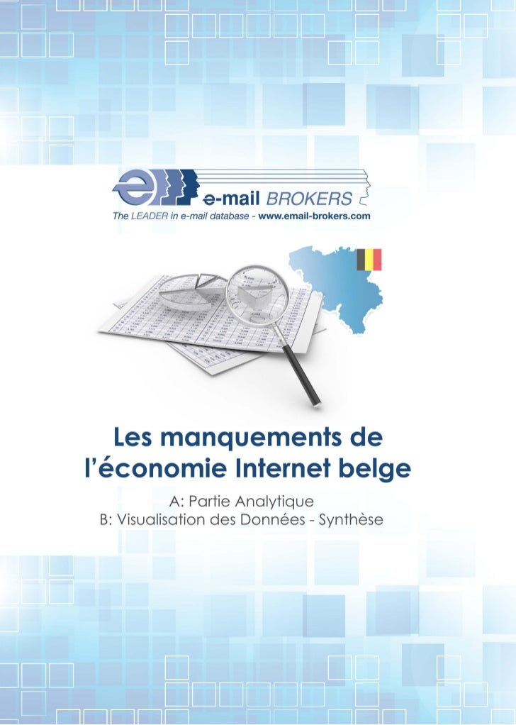 The LEADER in e-mail database - www.email-brokers.com   Les manquements deléconomie Internet belge            A: Partie An...